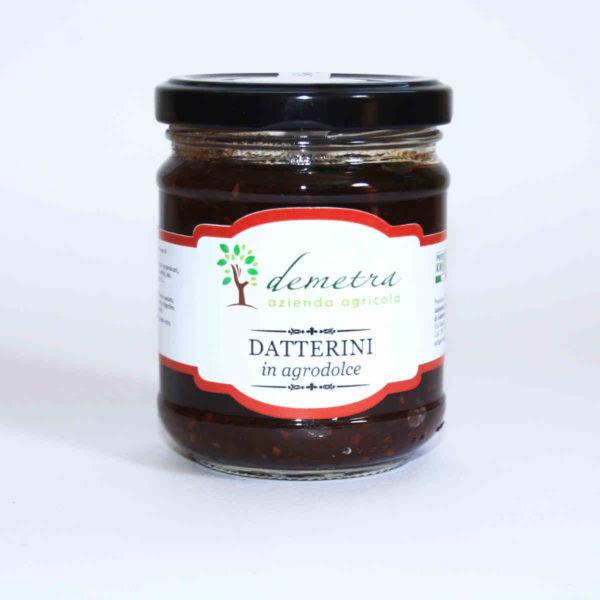 Pomodori Datterini in agrodolce azienda Demetra Padula
