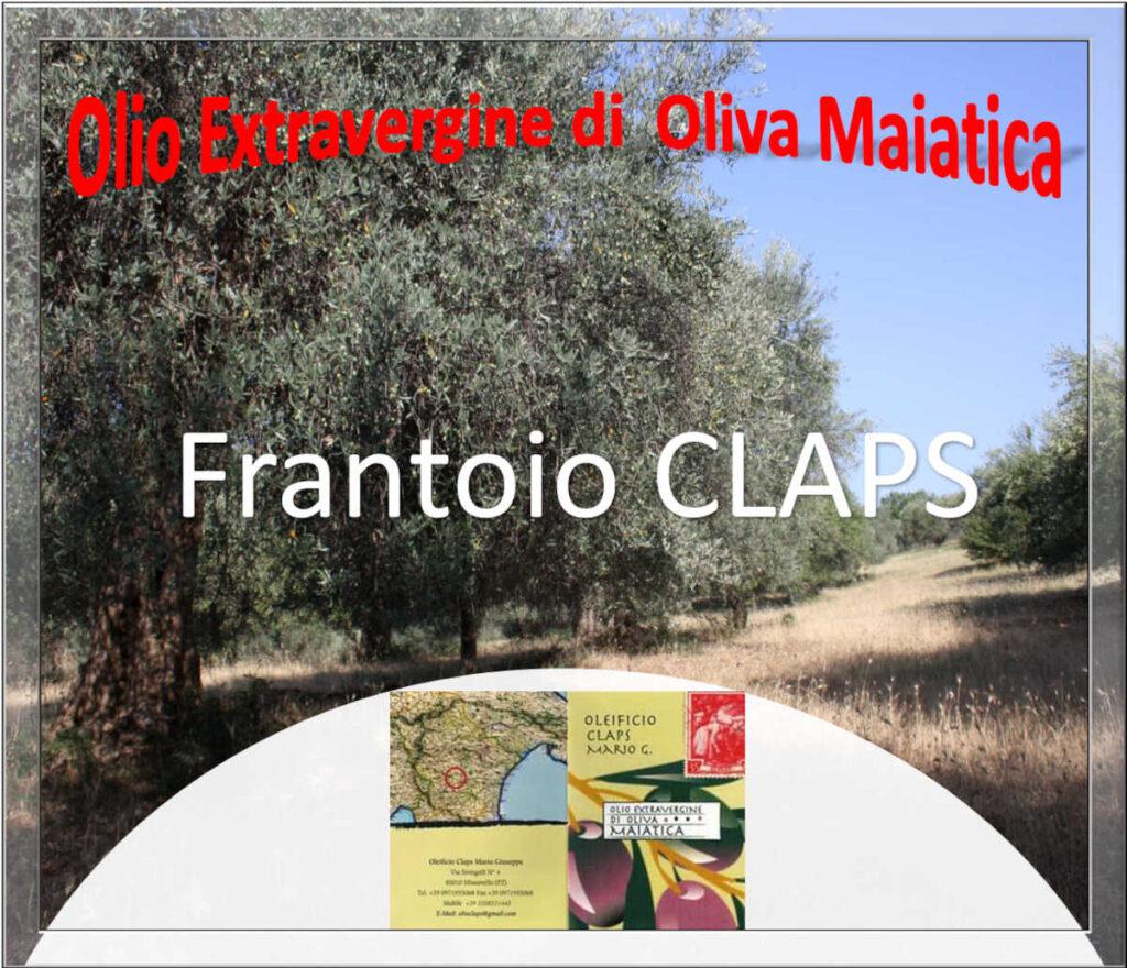 Oleificio CLAPS M. Giuseppe Frantoio di Missanello Lucania