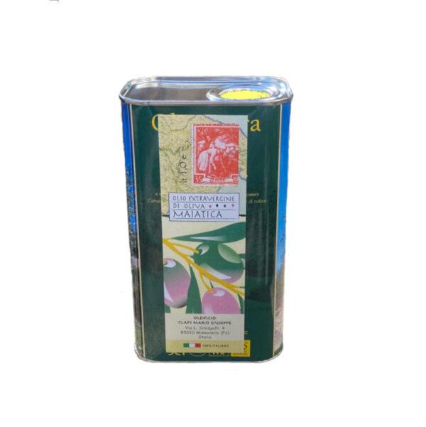 Frantoio CLAPS Olio extravergine di olive maiatiche 1.0lt lattina frontale